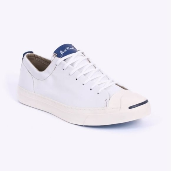 Converse Jack Purcell White Ox Leather Sneaker 8.5